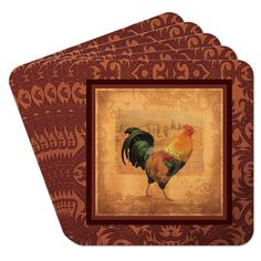 Rooster Cheers Coasters (Set of 10), Multicolor by Epic Products #Epic
