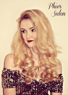 big curly hair volume party season long blonde hair