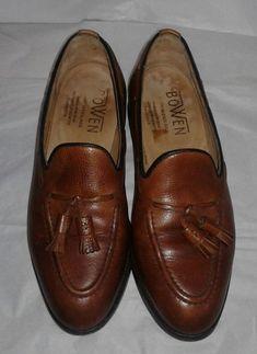MEN'S BOWEN LEATHER Tassel Loafers Shoes SIZE 8 LEATHER SOLE Made in England #Bowen #LoafersSlipOns #Dress