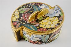 Art Deco Boch Freres Keramis Large Jewelry Box by Charleas Catteau