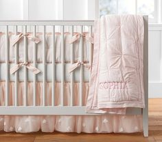 Shop Pottery Barn Kids' Monique Lhuillier Sophia Baby Girl Nursery for girls nursery ideas and more. Discover baby girl nursery themes and styles at Pottery Barn Kids. Baby Girl Bedding, Nursery Bedding Sets, Crib Bedding, Baby Beds, King Comforter, Comforter Sets, Butterfly Nursery, Butterfly Baby, Black Bed Linen