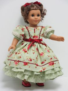 Victorian Sage Party Dress for Marie Grace or any of her Mattel American Girl Friends