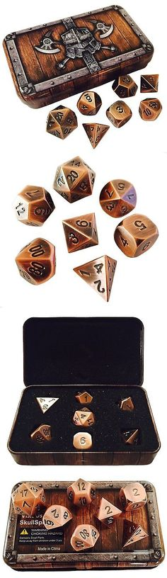 Accessories 2544: Skull Splitter Dice- Antique Brass Color- Solid Metal Polyhedral Role ... No Tax -> BUY IT NOW ONLY: $52.79 on eBay!