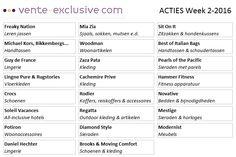 Nu bij Vente-exclusive.com: Vente-Exclusive korting wk 2 - 2016 tot 80% Deze week geeft Vente Exclusive weer extreem veel kortingen weg op diverse merken. Kom een kijkje nemen! Deze week o.a... #VenteExclusive #actievandedag #dealvandedag