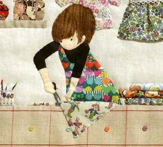 details sewing room applique
