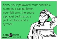 Your password must contain