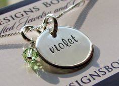 Handstamped Necklace  Personalized Jewelry by DivineDesignJewelers, $32.95