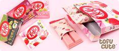 Kit Kat Gift Box 3-pack - Wa Ichigo Japanese Kit Kat, Japanese Candy, Cute Japanese, Candy Board, Small Bars, Fascinator, Strawberry, Gift Wrapping, Anonymous
