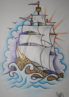 Ship Tattoo Design by ~itchysack on deviantART