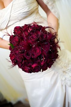 one of my red bridal bouquets  Dezignshop