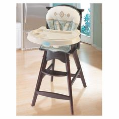 Check out the Carter's® Whisper Classic Comfort Reclining Wood High Chair from BabyAge.com!