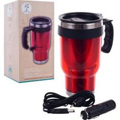 @Overstock - Keep your cup of coffee or other favorite beverage pipping hot with the help of this portable heated travel mug, which easily plugs in to a standard cigarette lighter. Featuring a spill-proof lid and rubber handle, traveling with this mug is convenient.http://www.overstock.com/Home-Garden/Joe-Traveler-Travel-Mug-with-USB-and-DC-Car-Chargers/6455204/product.html?CID=214117 $9.45