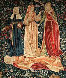 En la mitología griega, las Moiras (en griego antiguo Μοῖραι, 'repartidoras') eran las personificaciones del destino. Sus equivalentes en la mitología romana eran las Parcas o Fata, las Laimas en la mitología báltica y en la nórdica las Nornas. Vestidas con túnicas blancas, su número terminó fijándose en tres. Cloto (Κλωθώ, 'hilandera')  Láquesis (Λάχεσις, 'la que echa a suertes' Átropos (Ἄτροπος, 'inexorable' o 'inevitable'