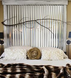 Galvanized Steel Headboard♥ Oh Honey!!