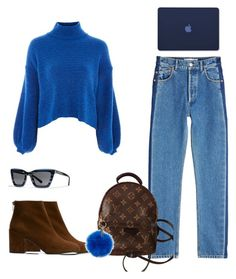 """Untitled #71"" by annamiceli4 on Polyvore featuring Topshop, Balenciaga, Louis Vuitton, Stuart Weitzman, Coccinelle and Coach"
