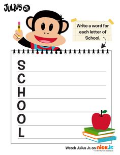 What is your favorite thing about school? Write it down with this fun activity!