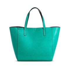 Merona Women S Reversible Tote Handbag Teal Navy 37 Liked On Polyvore Featuring Bags Handbags Dazzling Jade Oversized Beach