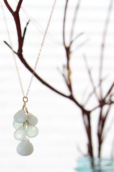 Seafoam cluster necklace
