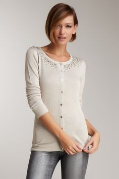 Costa Blanca Beaded Cardigan