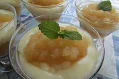 Kulinarne Wariacje: Deser jabłkowy z budyniem Pudding, Food, Custard Pudding, Essen, Puddings, Meals, Yemek, Avocado Pudding, Eten