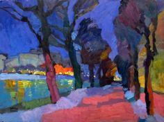 "Larisa Aukon at Mirada Fine Art, 'Turning Back,' Original Oil on Panel, 18"" x 24"""