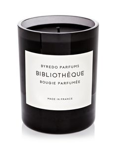 Byredo Bibliotheque Candle (smells like a yummy library!)