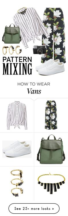 """mix it up "" by podangbethari on Polyvore featuring Warehouse, Equipment, Vans, Noir Jewelry and Skagen"