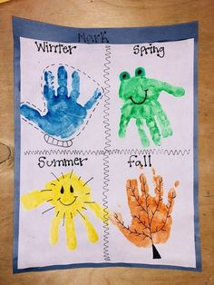 Preschool weather handprint crafts k crafts classroom crafts toddler crafts daycare activities this could be our craft for the week and be able to send it home for our students to tell their pa preschoolweather alphabet soup sensory activity for kids Kids Crafts, Crafts For 2 Year Olds, Daycare Crafts, Fall Crafts For Kids, Classroom Crafts, Preschool Activities, Art For Kids, Baby Crafts, Infant Crafts