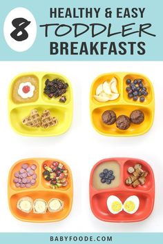 You'll love these 8 Healthy Toddler Breakfasts ideas! They're fast easy and healthy filled with protein fiber and other essential vitamins and minerals for growing toddlers! These healthy breakfast ideas will keep your toddler happy and full all morning! Healthy Toddler Breakfast, Healthy Toddler Meals, Healthy Kids, Kids Meals, Toddler Food, Breakfast Ideas For Toddlers, Food For Toddlers, Breakfast Ideas For Kids, Healthy Toddler Lunches
