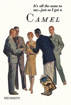 Vintage Advert for Camel Cigarettes 1929 | Flickr - Photo Sharing!