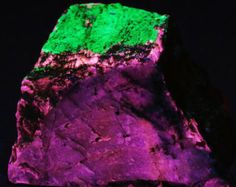 Beautiful Crimson Eudialyte With Fluorescent Agrellite and Hyalite