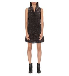 ALLSAINTS Leopard-print silk dress. #allsaints #cloth #dresses