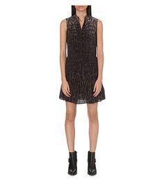 ALLSAINTS Leopard-print silk dress. #allsaints #cloth #dresses