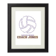 Custom Vollyball Printable Art for Teachers or Coaches with Students / Players Names. Coach Gift / Teacher Gift / Sponsor Gift! by AmplifyDesign on Etsy