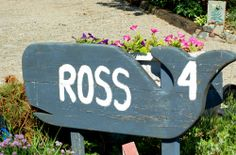 Beach-theme yard signs look great in seaside communities, as this photo of a whale yard sign demonstrates.