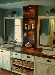 Cool 49 Brilliant Farmhouse Master Bathroom Remodel Ideas