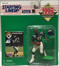 (TAS032795) - 1995 Kenner Starting Lineup NFL Chargers - Natrone Means #20