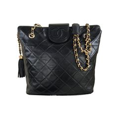 cd81cb17439951 Chanel Vintage Large Jumbo W/gold Hdw Black Tote Bag. Get one of the.  Tradesy