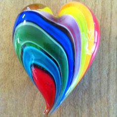 Rainbow of Hearts/love Heart shapes n Rainbow COLORS I Love Heart, Happy Heart, My Heart, Rainbow Heart, Over The Rainbow, Rainbow Glass, Glass Paperweights, Objet D'art, Love Symbols