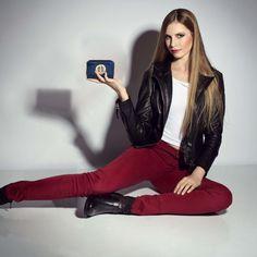 Anna Grace λουστρίνι πορτοφόλι Block Design, Wallets For Women, Color Blocking, Purses, Anna, Blue, Handbags, Women's Wallets, Purse