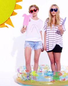 SUMMER STYLE: MARY-KATE + ASHLEY | TEES + SHORTS
