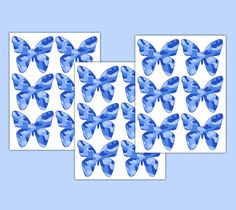 Blue Camo Butterfly Wall Decal Girl Camouflage Bedroom Baby Nursery Art Stickers #decampstudios