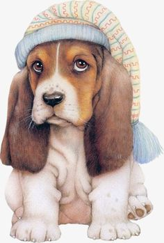 tube chien - Page 2 Animals Images, Animal Pictures, Cute Pictures, Dog Illustration, Illustrations, Baby Animals, Cute Animals, Dog Clip Art, Art Mignon