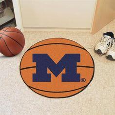 University of Michigan Wolverines Basketball Floor Rug Mat