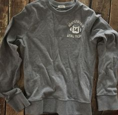 Abercrombie Kids Boys Gray White FOOTBALL Muscle Long Sleeve Shirt M #AbercrombieKids #Everyday