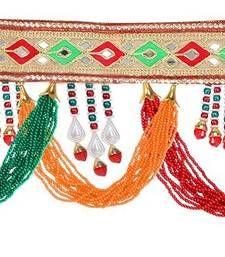 Buy Multicolor embroidered patti hand woven toran home-accessory online