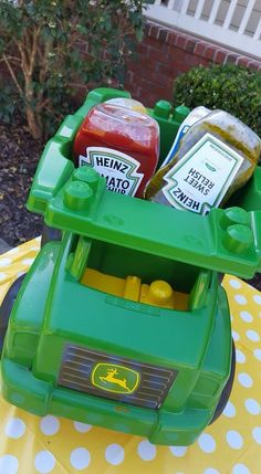 Truly You Events - Construction party or tractor party condiment dump truck.