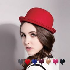 c6046f28dbd1c 2017 Cute Red Spring Autumn Vintage Dome women fedoras Women s Hat Children  Feeling Hat Church Mother and Daughter Hats sun caps-in Fedoras from  Women s ...
