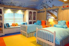 Tree House Bedroom Wall Murals by Tom Taylor of Wow Effects, hand-painted in Minnesota