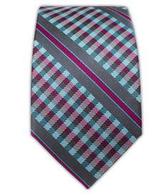 Carnaby Plaid - Aqua/Wine (Skinny) | Ties, Bow Ties, and Pocket Squares | The Tie Bar